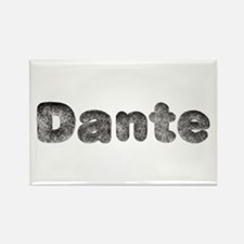 Dante Wolf Rectangle Magnet