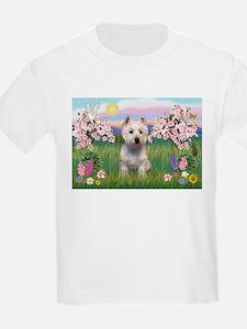 Blossoms & West Highland T-Shirt