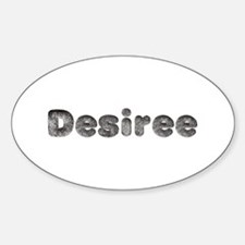 Desiree Wolf Oval Decal