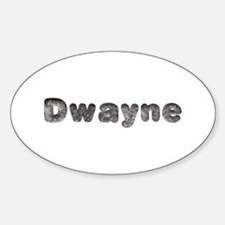 Dwayne Wolf Oval Decal