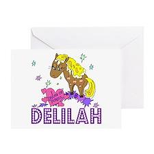 I Dream Of Ponies Delilah Greeting Card