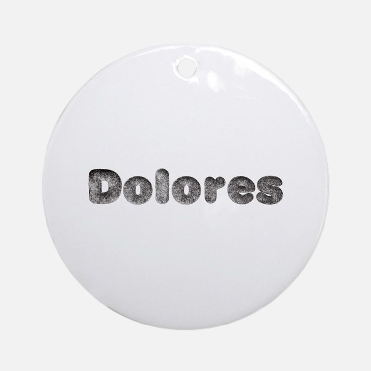 Dolores Wolf Round Ornament