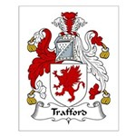Trafford Family Crest Small Poster