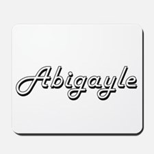 Abigayle Classic Retro Name Design Mousepad