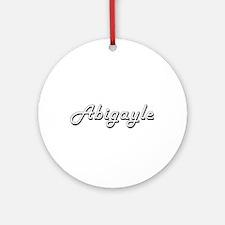 Abigayle Classic Retro Name Desig Ornament (Round)