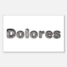 Dolores Wolf Rectangle Decal