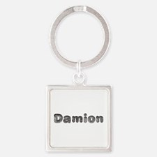 Damion Wolf Square Keychain