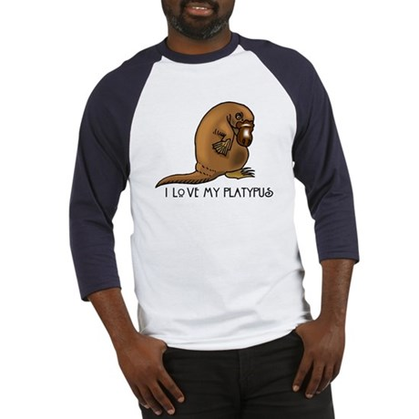 I Love my Platypus Baseball Jersey
