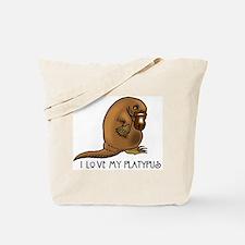 I Love my Platypus Tote Bag