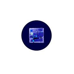 Egypt Blue Mini Button (10 pack)