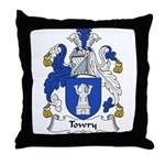 Towry Family Crest Throw Pillow