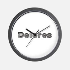 Delores Wolf Wall Clock