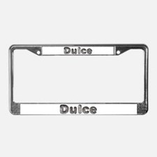 Dulce Wolf License Plate Frame