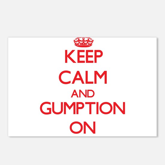 Keep Calm and Gumption ON Postcards (Package of 8)