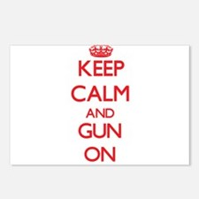Keep Calm and Gun ON Postcards (Package of 8)