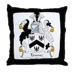 Towne Family Crest Throw Pillow