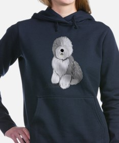 Unique Old english sheepdog Women's Hooded Sweatshirt