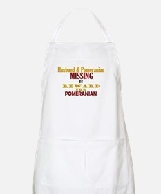 Husband & Pomeranian Missing BBQ Apron