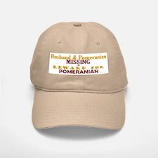 Husband & Pomeranian Missing Baseball Baseball Cap
