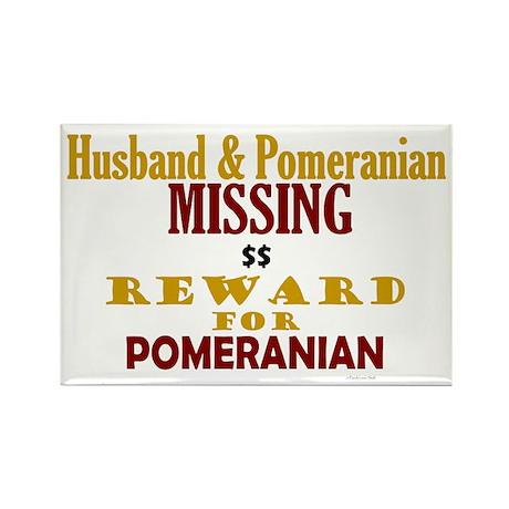 Husband & Pomeranian Missing Rectangle Magnet