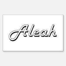 Aleah Classic Retro Name Design Decal