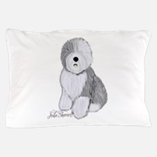 Unique Old english sheepdog drawing Pillow Case