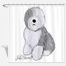 Cute Old english sheepdog Shower Curtain