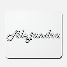 Alejandra Classic Retro Name Design Mousepad