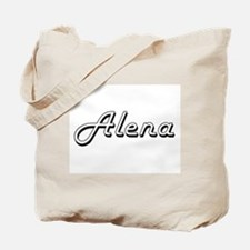 Alena Classic Retro Name Design Tote Bag