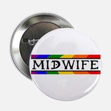 Rainbow Midwife Button