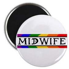 """Rainbow Midwife 2.25"""" Magnet (10 pack)"""