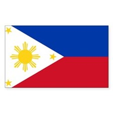 Filipino Flag Rectangle Decal