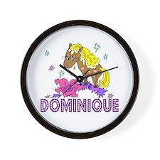 I Dream Of Ponies Dominique Wall Clock