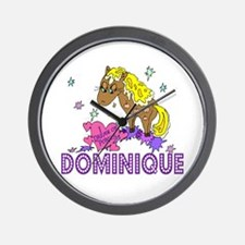 I Dream Of Ponies Dominique Wall Clock