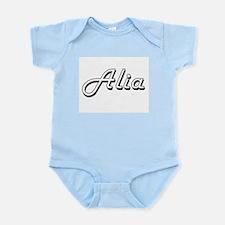 Alia Classic Retro Name Design Body Suit