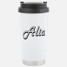 Alia Classic Retro Name Travel Mug