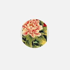Chinese Brush Painting - Peon Mini Button (100 pac