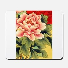 Chinese Brush Painting - Peon Mousepad
