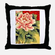 Chinese Brush Painting - Peon Throw Pillow
