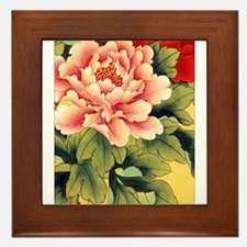Chinese Brush Painting - Peon Framed Tile