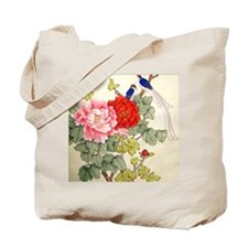 Chinese Water Color Painting Tote Bag