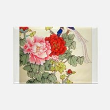 Chinese Water Color Painting Rectangle Magnet (10