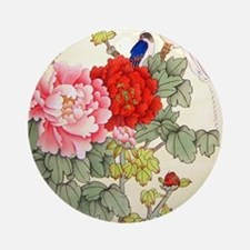 Chinese Water Color Painting Ornament (Round)