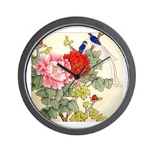 Chinese Water Color Painting Wall Clock
