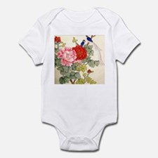 Chinese Water Color Painting Infant Bodysuit