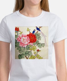 Chinese Water Color Painting Women's T-Shirt