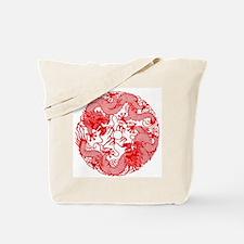 Chinese Twin Dragons Symbol Tote Bag