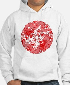 Chinese Twin Dragons Symbol Hoodie