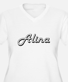 Alina Classic Retro Name Design Plus Size T-Shirt