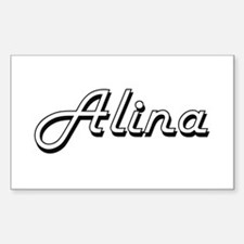 Alina Classic Retro Name Design Decal